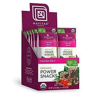 Navitas Organics Superfood Power Snacks, Cacao Goji. 12 Servings, 12 x 1.05oz Packets — Organic, Non-GMO, Gluten-Free, Vegan