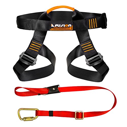 Fusion Climb Pro Backyard Zip Line Kit Harness Lanyard Bundle FK-A-HL-01 by Fusion Climb