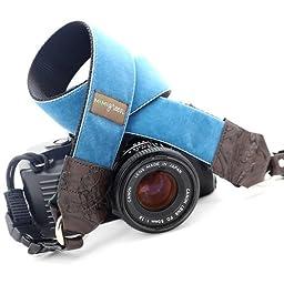 Mimi Green \'Diego\' Blue Velvet DSLR Camera Strap