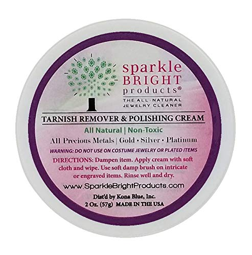 Sparkle Bright All-Natural Jewelry Cleaner - Tarnish Remover and Polishing Cream, 2 oz. | Gold, Silver Jewelry Cleaning