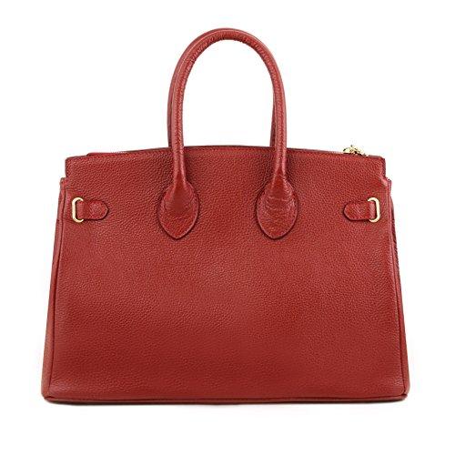 81415294 - TUSCANY LEATHER: TL BAG - Sac à main pour femme avec finitions couleur or, rouge