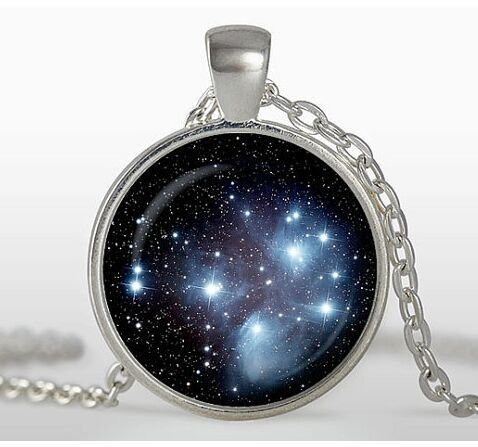 Pleiades cluster necklace Universe Necklace