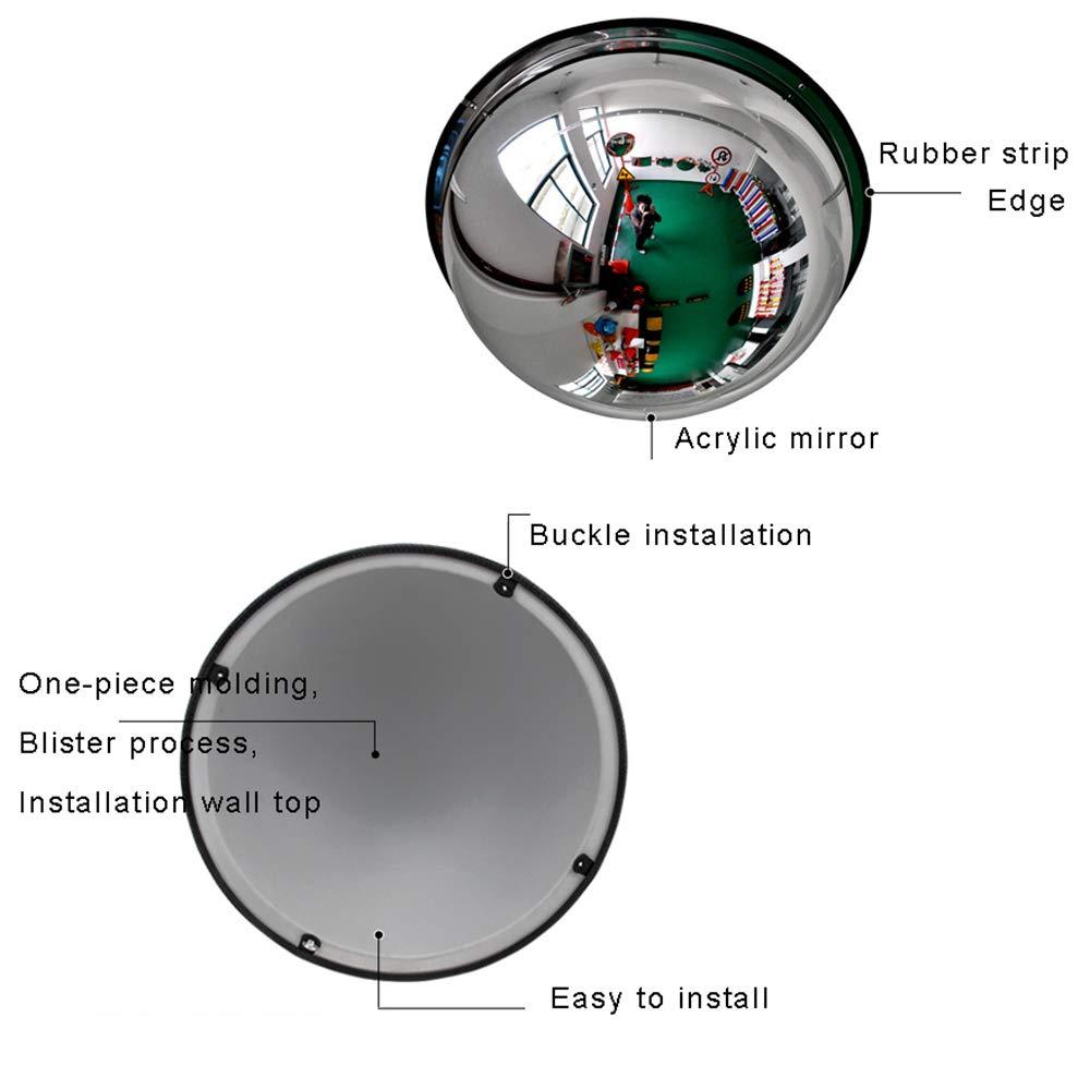 konvexer 360-Grad-Sicherheitsspiegel 19,68 in Convex mirrors 1//2 Acryl kuppelspiegel /Überwachungs Spiegel Panoramaspiegel 50 cm