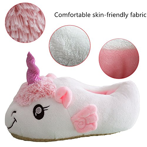 Missley Deslizadores de Oveja de Dormitorio Lindo Deslizadores de Unicornio Deslizadores de Oveja de Peluche de Unicornio blanco