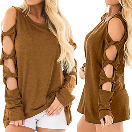 Vrac Kaki OVERMAL Shirt Sexy en t Automne Chemise Sweatshirts Femmes Dcontracte Mode et Vetements Manches T Top 1 Longue Chic Blouse Haut Tx1wrPT6