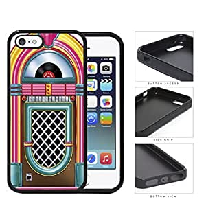 Retro Jukebox Rock And Roll Rubber Silicone TPU Cell Phone Case iPhone 5 5s