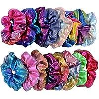 zhuygba 100pcs Women Girls Casual Solid Elastic Hairband Set Hair Decoration Set Headwear