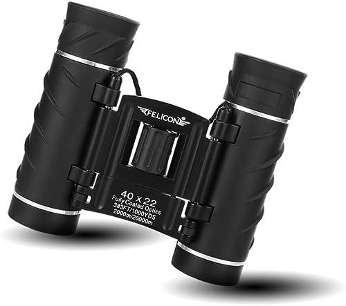 SENMONUS 40×22 Compact Mini Binoculars for Adults, Small Lightweight High Powered Binocular Telescope for Bird Watching Travel Concerts Theater Opera Camping and Hiking, with Weak Light Night Vision