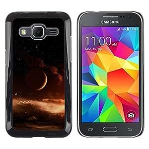 TECHCASE**Cubierta de la caja de protección la piel dura para el ** Samsung Galaxy Core Prime SM-G360 ** Space Universe Gas Cloud Brown Space