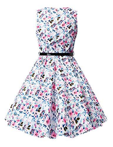 Print Idgreatim Swing Abiti Vintage Rockabilly maniche festa Floral ragazza Senza vestito 5 da Floral wSWxSrg0Aq