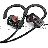 Bluetooth Headphones,WIEZ Wireless Headphones IPX7 Waterproof Sport Earbuds w/Mic Adjustable Earhook (UPGRADED IPX7 Waterpoof Headphones)