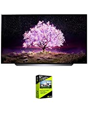 $1596 » LG OLED55C1PUB 55 Inch 4K Smart OLED TV with AI ThinQ (2021 Model) Bundle with Premium 4 Year Extended Protection Plan