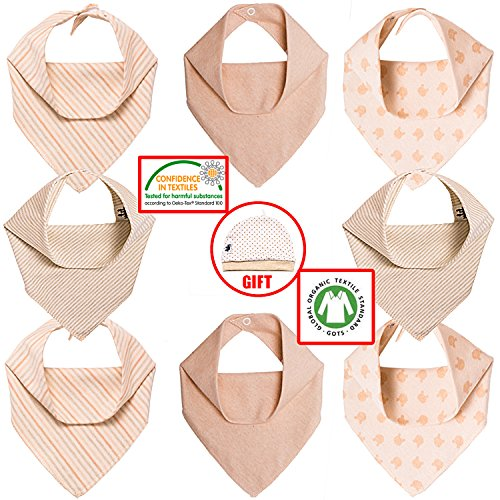 Chic Baby Bandana Bibs For Baby Drooling and Teething | Best Baby Bibs To Protect Your Baby| 8 Pack Unisex Baby Burp Clothes Gift Box | Hypoallergenic, 100% Organic Cotton (Devil Fancy Dress Ideas)