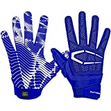 Cutters Gamer Padded Receiver Football Gloves, EXTRA GRIP, Youth & Adult sizes