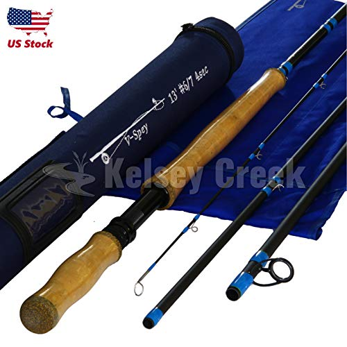 Series Two Handed Spey Rods - Maxcatch Carbon Fiber Spey Rod, 13ft, 6/7wt and 8/9wt (13ft 6/7wt)