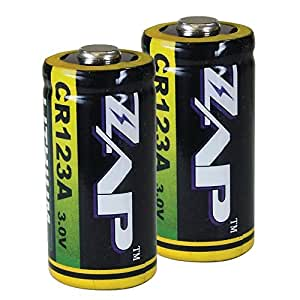 PS Products Genuine ZAP Lithium CR123A Batteries, 2 Pack