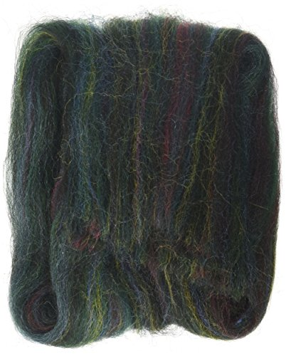 "Wistyria Editions Wool Roving 12"" .22 Ounce-Green Variegated"