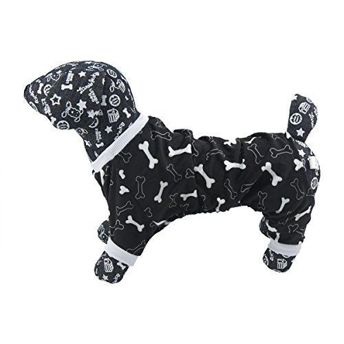 Image of CuteBone Dog Pajamas Bone Dog Apparel Dog Jumpsuit Pet Clothes Pajamas P39L