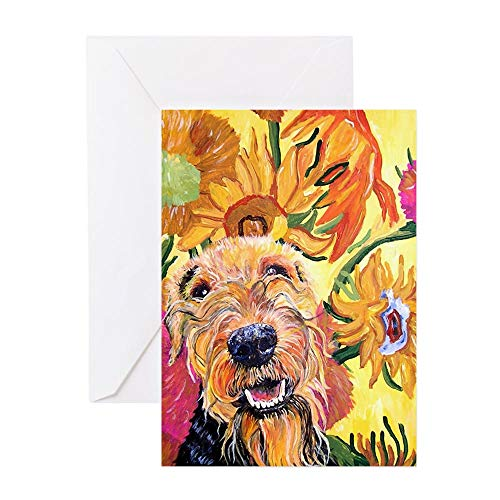 CafePress Airedale Terrier Greeting Card (10-pack), Note Card with Blank Inside, Birthday Card Matte