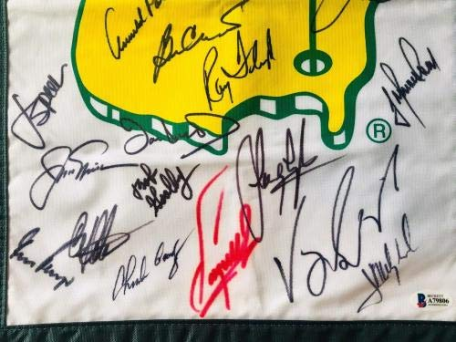 Masters golf champs signed flag signed jack nicklaus palmer player j. spieth PSA/DNA Certified Autographed Golf Equipment