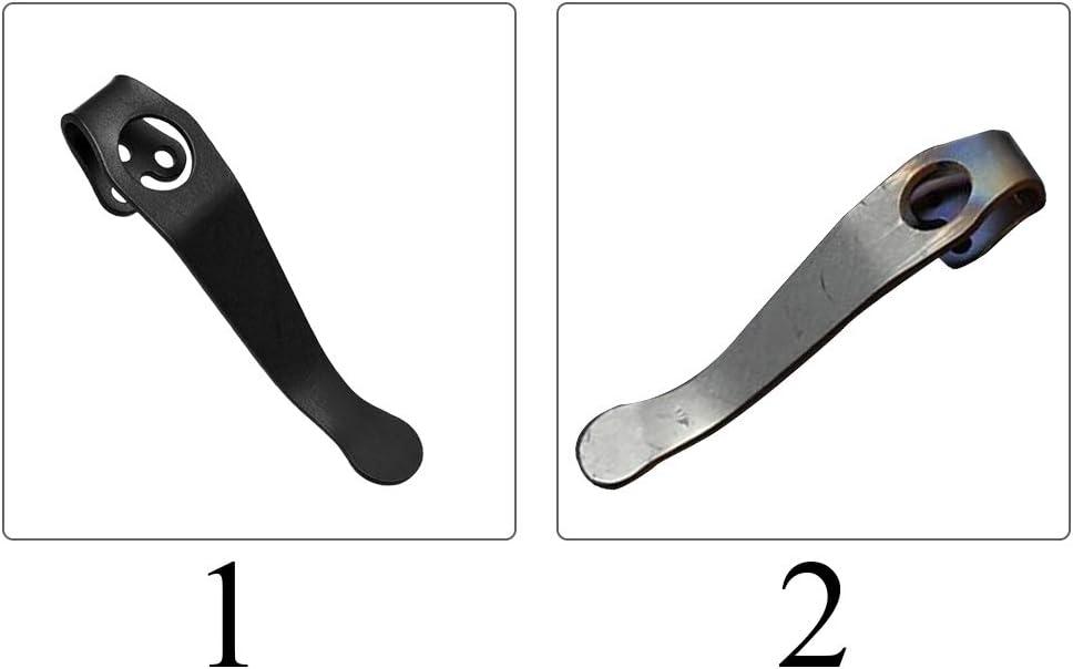 szlsl88 nero Clip da tasca in lega di titanio per c81 c10 c11 a 3 fori