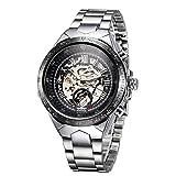 Romacci Men Mechanical Watch Semi Automatic Big Dial Hand-Winding Business Men Wristwatch