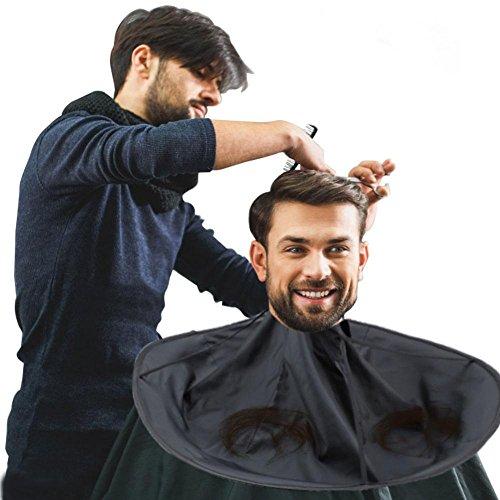 Barber Capes, Hair Cutting Cape Umbrella Salon Barber Peluquería Hair for Adult(Negro)