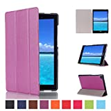 """Asus ZenPad S 8.0 Z580C Slim Shell Case,Mama Mouth Ultra Slim Lightweight 3-folding PU Leather Standing Cover For 8"""" Asus ZenPad S 8.0 Z580C Z580CA Android Tablet,Purple"""