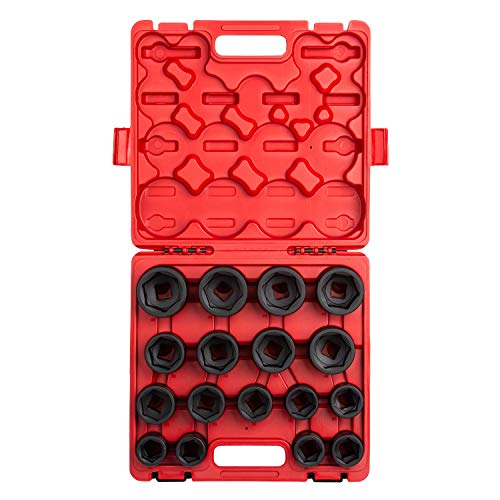 Sunex 4684 3/4-Inch Drive Heavy Duty Metric Impact Socket Set, Metric, Standard, 6-Point, Cr-Mo, 26mm - 46mm, 17-Piece