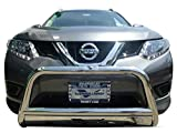 Nissan Off-Road Bumpers - VANGUARD Off Road VGUBG-1212-1171SS For Nissan Rogue 2014-2019 Bumper Guard Stainless Steel Bull Bar with Skid Plate