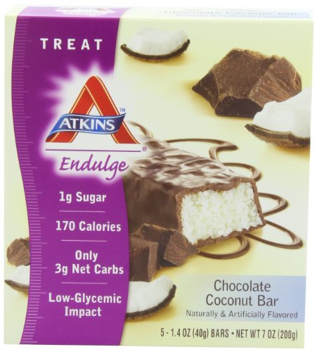 Atkins Endulge Bars, Chocolate Coconut, 5-Count 1.4-Ounce Bars (Pack of 3) Review