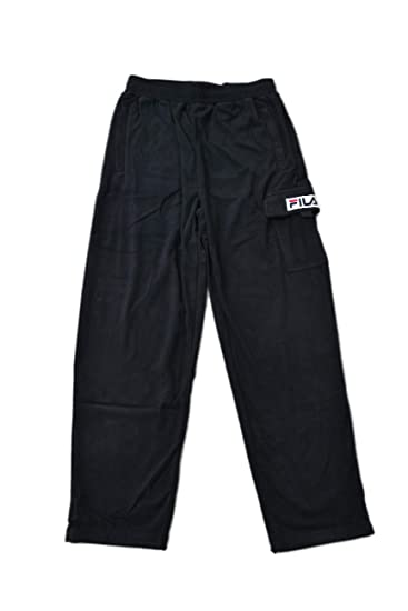 52d2b9d8d35c3 Fila Men's 682351002 Black Polyester Pants: Amazon.co.uk: Clothing