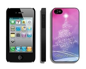 Fantastic Art Christmas tree Black iPhone 4 4S Case 1