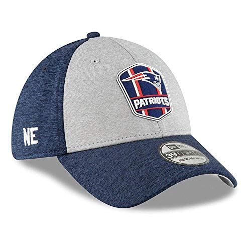 New England Patriots Sideline Away 39THIRTY Stretch Fit Hat, Medium/Large - ()