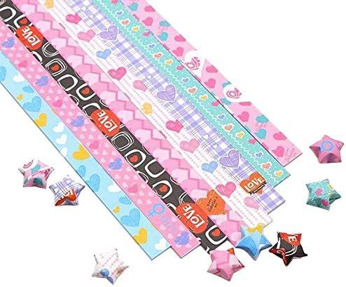 ペーパー#06 紙スターDIYカラフルな折り紙ラッキースターピース 1300枚