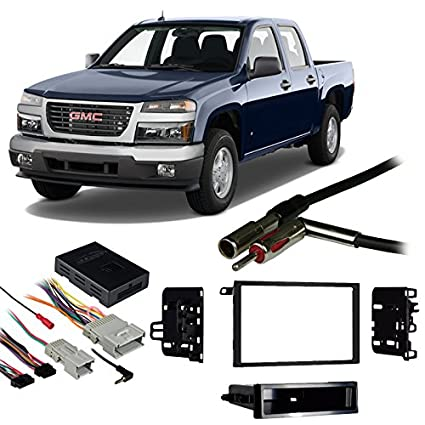 Compatible with GMC Canyon 04-12 Double DIN Aftermarket Harness Radio on