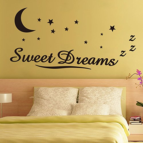 ORDERIN Christmas Gift Sweet Dreams Removable Mural Wall Stickers Wall Decal for Children Kids Baby Room Wall - Shops What Are Paris In