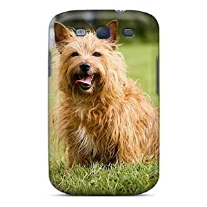 Brand New S3 Defender Case For Galaxy (dog In Greens) by Maris's Diary