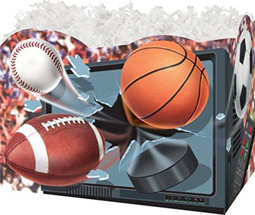 TV/Sports Balls Gift Basket Box