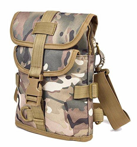 Outdoor Peak - Bolso al hombro para hombre marrón camouflage camouflage