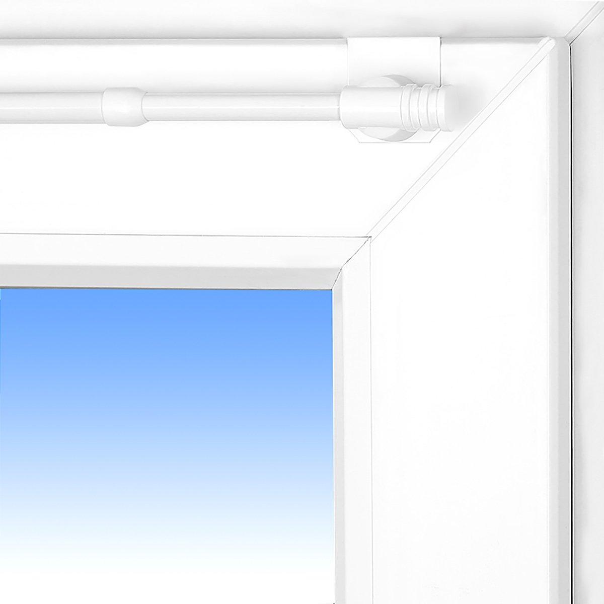 Asta allungabile per tende Basic Fix-Klick 55-80 cm colore bianco asta bloccabile Spannfix universale