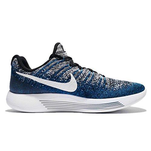 Nike Lunarepic Low Flyknit 2 Hardloopschoenen (zwart, Foto Blauw)