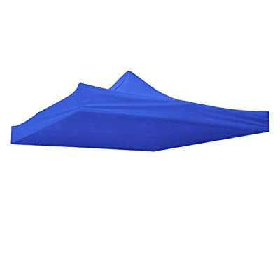 KINGSO Canopy Top Replacement Instant Outdoor Patio Pavilion Gazebo Sunshade Tent Oxford Cover 9.5x9.5ft (Blue): Garden & Outdoor