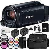 Canon VIXIA HF R82 Camcorder 9PC Accessory Bundle – Includes 64GB SD Memory Card, 3 Piece Filter Kit (UV, CPL, FLD), More - International Version (No Warranty) -  SSE