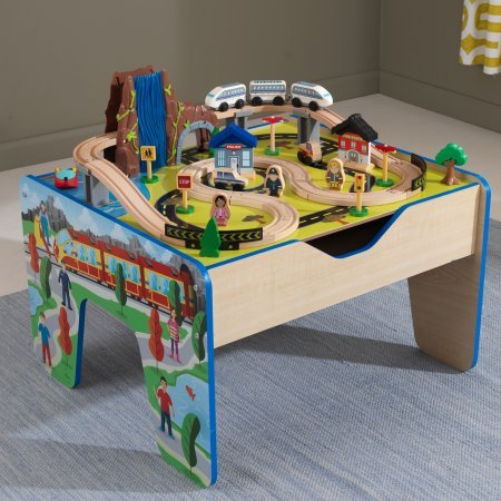 48 Piece KidKraft Rapid Waterfall Train Set and Wooden Table (Kidkraft Wooden Waterfall Mountain Train Table And Set)