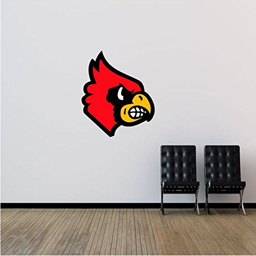 Louisville Cardinals NCAA USA Logo College Sport Art Wall Decor Sticker Head 21'' x 25''