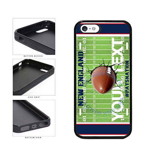 BleuReign(TM) Personalized Custom Name Cracked New England PATSNATION Football Team License Plate TPU RUBBER SILICONE Phone Case Back Cover For Apple iPhone 5 5s and iPhone SE