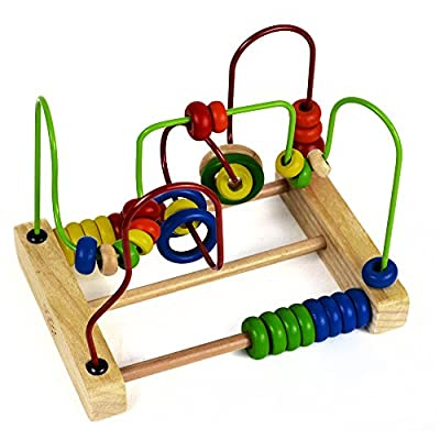Classic Bead Maze Cube Toy for Babies Toddlers Wooden Roller Coaster Beads Early Learning Toys for 3 Year Olds by NimNik by NimNik Games that we recomend personally.
