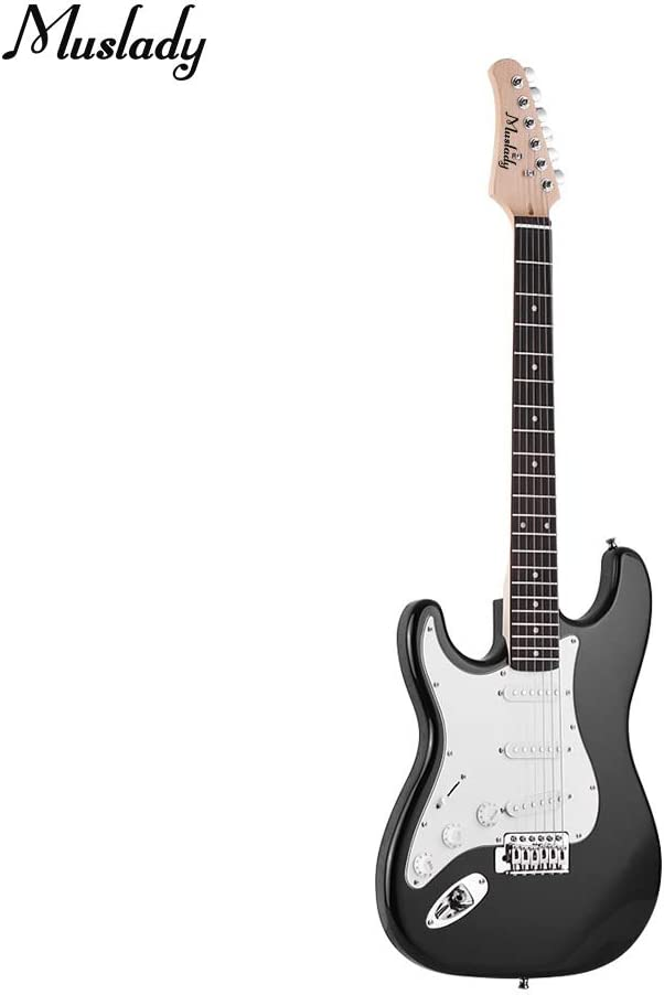 Kalaok Guitarra eléctrica Madera maciza Cuerpo de paulownia Mástil ...