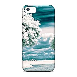 Premium Nature Seasons Winter White Winter Heavy-duty Protection Case For Iphone 5c